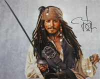 "Johnny Depp Signed ""Pirates of the Caribbean"" 16x20 Photo (PSA COA) at PristineAuction.com"