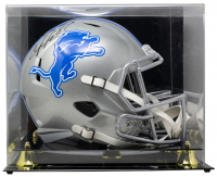 Calvin Johnson Signed Lions Full-Size Speed Helmet with Display Case (JSA COA) at PristineAuction.com