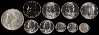 Lot of (10) 90% Silver Coins at PristineAuction.com