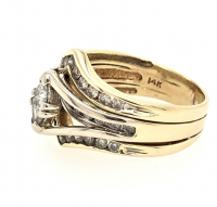 .95ct Trillion Diamond Engagement Ring 14kt Yellow Gold (GAL Certified) at PristineAuction.com
