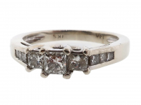 .32ct Princess Diamond Engagement Ring 14kt White Gold (GAL Certified) at PristineAuction.com