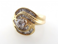 1.33ct Round Diamond Engagement Ring 14kt Yellow Gold (GAL Certified) at PristineAuction.com