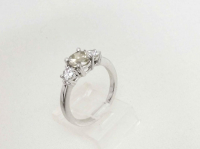 1.37ct Brown & White Diamond Engagement Ring 14kt White Gold (GAL Certified) at PristineAuction.com