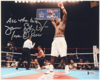 """James """"Buster"""" Douglas Signed 8x10 Photo Inscribed """"All The Best"""" & """"Love + Peace"""" (Beckett COA) at PristineAuction.com"""