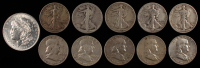 Lot of (11) Coins with (10) Half Dollar Coins & (1) Morgan $1 Coin at PristineAuction.com