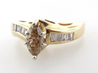 .82ct Brown & White Diamond Engagement Ring 14kt Yellow Gold (GAL Certified) at PristineAuction.com