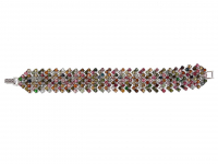 30.00ct Multi-Color Sapphire & Ruby Bracelet (GAL Certified) at PristineAuction.com
