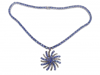 37.70ct Tanzanite & Diamond Necklace (GAL Certified) at PristineAuction.com