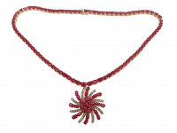 44.75ct Ruby & Diamond Necklace (GAL Certified) at PristineAuction.com