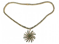 40.70ct Green Sapphire & Diamond Necklace (GAL Certified) at PristineAuction.com