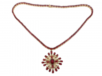 28.75ct Ruby & Diamond Necklace (GAL Certified) at PristineAuction.com