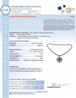 29.90ct Blue Sapphire & Diamond Necklace (GAL Certified) at PristineAuction.com
