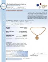 26.85ct Orange Sapphire & Diamond Necklace (GAL Certified) at PristineAuction.com