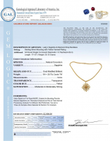 27.45ct Yellow Sapphire & Diamond Necklace (GAL Certified) at PristineAuction.com