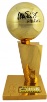 """Magic Johnson Signed Lakers 11"""" Championship Trophy Inscribed """"HOF 02"""" (Beckett COA) at PristineAuction.com"""