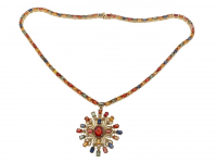 28.75ct Multi-Color Sapphire, Ruby, & Diamond Necklace (GAL Certified) at PristineAuction.com