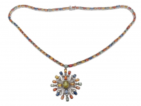 26.55ct Multi-Color Sapphire, Ruby, & Diamond Necklace (GAL Certified) at PristineAuction.com