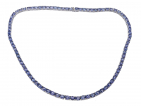 29.25ct Tanzanite Tennis Necklace (GAL Certified) at PristineAuction.com
