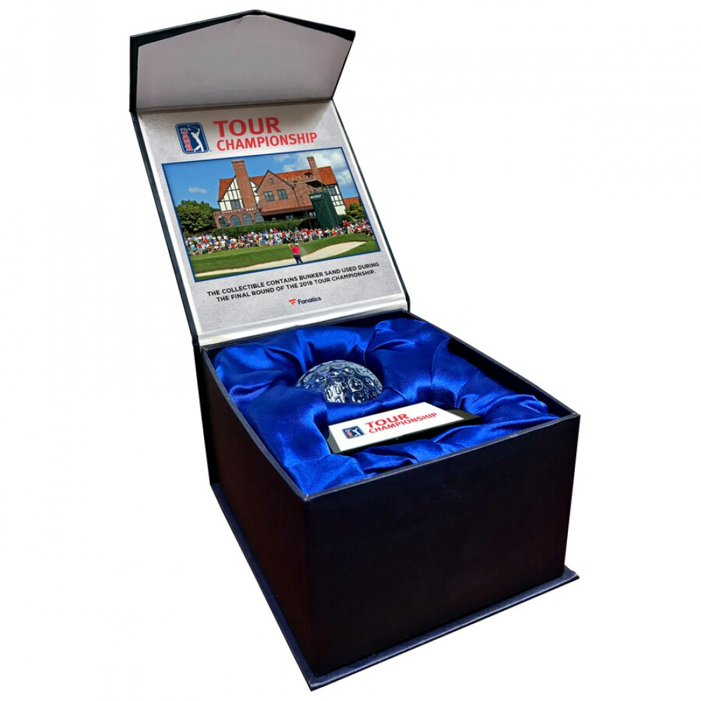 2018 Tour Championship Crystal Golf Ball - Filled with Bunker Sand from the 2018 Tour Championship (Fanatics COA) at PristineAuction.com