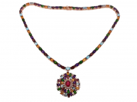 34.80ct Multi Gemstone Necklace (GAL Certified) at PristineAuction.com