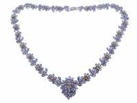50.40ct Tanzanite & Multi-Colored Sapphire Necklace (GAL Certified) at PristineAuction.com
