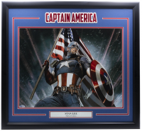 "Stan Lee Signed ""Captain America"" 22x29 Custom Framed Photo Display (Beckett LOA) at PristineAuction.com"