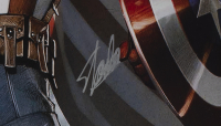 """Stan Lee Signed """"Captain America"""" 22x29 Custom Framed Photo Display (Beckett LOA) at PristineAuction.com"""