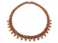 54.00ct Multi-Color Sapphire & Ruby Necklace (GAL Certified) at PristineAuction.com