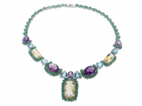 118.80ct Multi Gemstone Necklace (GAL Certified) at PristineAuction.com
