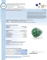5.65ct Natural Emerald Ring (GAL Certified) at PristineAuction.com