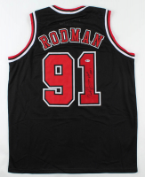 "Dennis Rodman Signed Jersey Inscribed ""HOF 2011"" (Beckett COA) at PristineAuction.com"