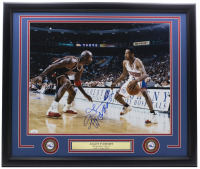 """Allen Iverson Signed 76ers 22x27 Custom Framed Photo Inscribed """"The Answer"""" (JSA COA) at PristineAuction.com"""