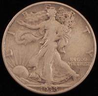 1938-D Walking Liberty Silver Half Dollar at PristineAuction.com