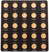 Lot of (25) 2020 1 Gram Canadian Gold Maple Leaf Coins at PristineAuction.com