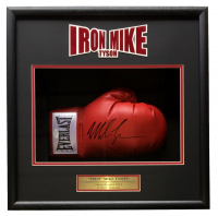 Mike Tyson Signed 18x19x4 Custom Framed Boxing Glove Shadowbox Display (JSA COA) at PristineAuction.com