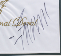 Donald Trump Signed Trump National Doral Country Club 20x28 Custom Framed Flag Display (JSA COA) at PristineAuction.com