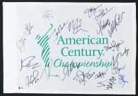 American Century Championship Pin Flag Signed by (20) with Sean Payton, Golden Tate, Roger Clemens, Larry The Cable Guy (Beckett LOA) at PristineAuction.com