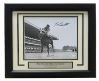 "Ron Turcotte Signed ""Rides Secretariat"" 12x18 Custom Framed Photo Display (JSA COA) at PristineAuction.com"