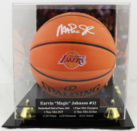Magic Johnson Signed Lakers NBA Game Ball Series Logo Basketball with High-Quality Display Case (Beckett COA) at PristineAuction.com