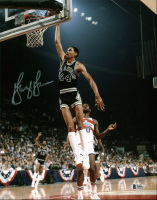George Gervin Signed Spurs 11x14 Photo (Beckett COA) at PristineAuction.com