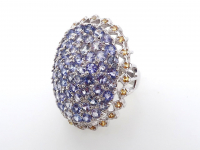 5.25ct Natural Tanzanite & Orange Sapphire Ring (GAL Certified) at PristineAuction.com
