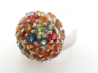 4.65ct Natural Multi-Colored Sapphire Ring (GAL Certified) at PristineAuction.com