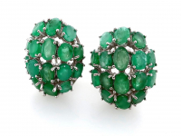 9.35ct Natural Emerald Earrings (GAL Certified) at PristineAuction.com
