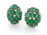 9.95ct Natural Emerald Earrings (GAL Certified) at PristineAuction.com