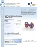 13.60ct Natural Tanzanite Earrings (GAL Certified) at PristineAuction.com