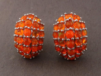7.25ct Natural Orange Fire Opal Earrings (GAL Certified) at PristineAuction.com