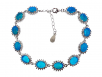 9.05ct Natural Blue Opal Bracelet (GAL Certified) at PristineAuction.com