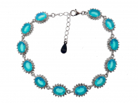 7.95ct Natural Blue Opal Bracelet (GAL Certified) at PristineAuction.com