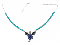 6.70ct Natural Blue Opal Necklace (GAL Certified) at PristineAuction.com