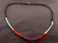 25.01ct Natural Multi-Color Opal Tennis Necklace (GAL Certified) at PristineAuction.com